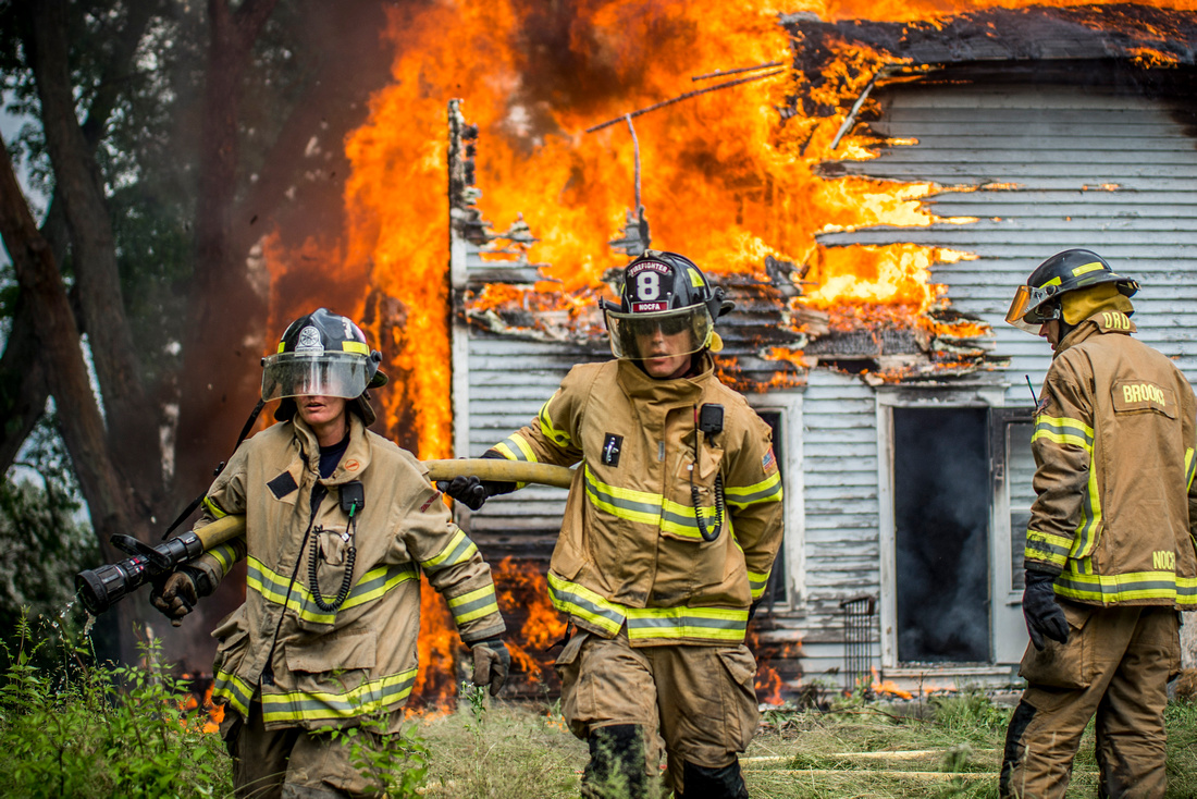 Firemen Training Photographs Rose Twp MI