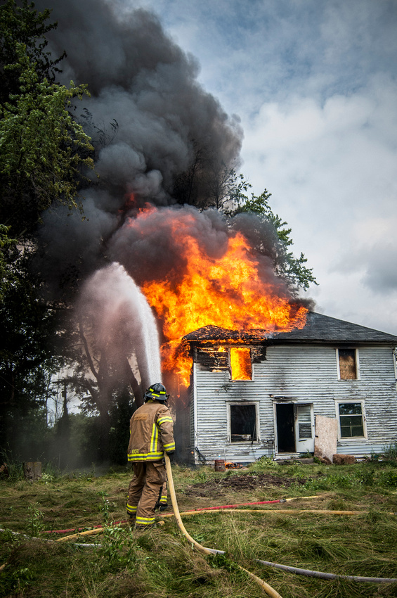 Firemen Training Photographs Rose Twp MI